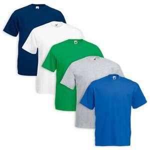 Set 5 T-Shirt Fruit off the Loom in Cotone - Vari Colori