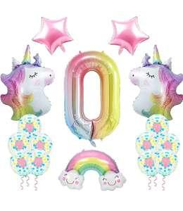 Decorazioni Compleanno Palloncini Unicorno 0 Anni