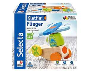 """Selecta - Aereo """"Klettini"""", giocattolo da impilare in legno, 5 pezzi,"""