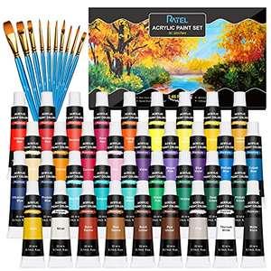 Set di colori acrilici,RATEL 36 tubi di scatola di colori acrilici,36 x 22 ml