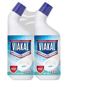 Viakal Anticalcare WC Gel, Detersivo Gel per Bagno, 2 bottiglie da 750 ml, Rimuove Sporco e Batteri, Azione Totale Sul Calcare,