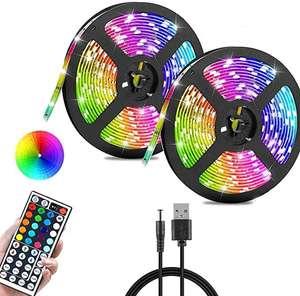 10M Striscia LED RGB 3528 SMD RGB Striscia di Illuminazione che Cambia Colore con Telecomando a 44 Tasti