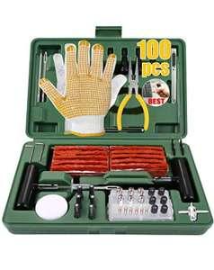 TECCPO Kit di Riparazione Pneumatici 100 Pezzi