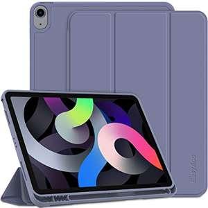 Ultra Sottile Smart Cover Case in Pelle Compatibile con iPad Air 4 Generazione - Taro Viola
