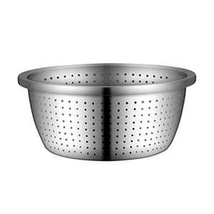 Hemoton - Scolapasta microperforata in acciaio INOX (diametro 20 cm)