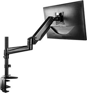Supporto Monitor in Alluminio Regolabile in Altezza, Braccio con Molla a Gas 360 ° Ruotabile per Schermo da 13 a 32