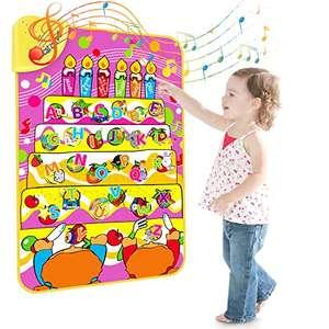 Magicfun Giocattolo di Apprendimento Alfabeto, Giocattoli Educativi Tappetino Musicale per Lettere e Parole Inglesi, ABC Sound Book,