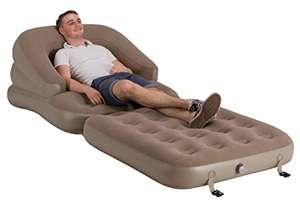 Vango gonfiabile divano letto singolo, noce moscata, taglia unica, standard