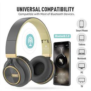 Cuffie Bluetooth pieghevoli senza fili