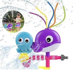 Spruzzatore di Acqua Giocattoli per Bambini Acqua di Polpo di Balena Spray con Tubi oscillanti