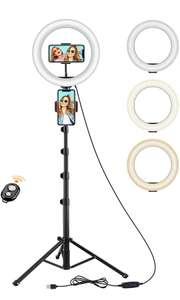 """Luce ad Anello, Techvilla 10"""" LED Ring Light con Telecomando Wireless"""