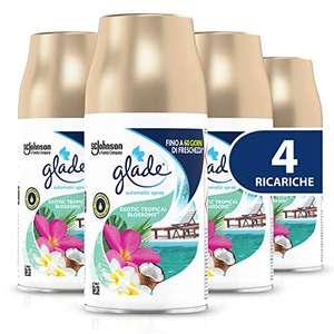 Glade Automatic Ricarica, Fragranza Exotic Tropical Blossom, 4 X 269 ml
