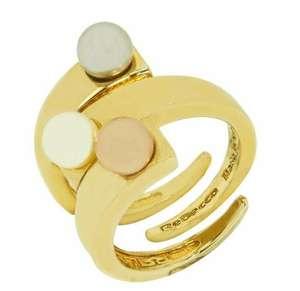 Anello Donna REBECCA BTRAOT04-14 Bronzo Gold Dorat Perle Fascia Misura 14