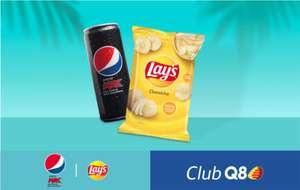 In omaggio una Pepsi Max Zero + patatine Lay's. Fino al 5 agosto se sei iscritto al ClubQ8 con 25 litri serviti di Q8 Hi Perform,