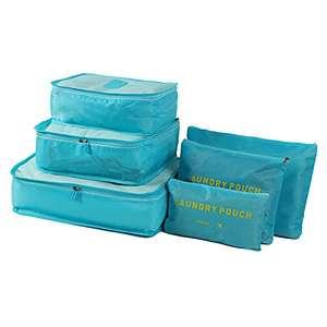 6 pezzi di imballaggio cubi bagagli borse organizzatore durevole viaggio