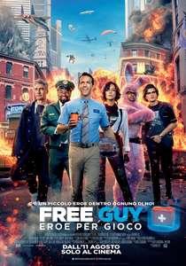Biglietti gratis per l' anteprima di Free Guy-solo MILANO-ROMA -NAPOLI-BARI