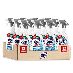 Smac Express - Scioglicalcare Igienizzante Spray, Detergente Anticalcare Bagno con Barriera Protettiva, 650 ml x 12 Pezzi