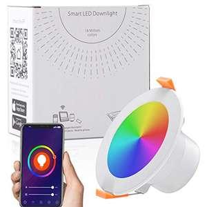 Faretti LED da incasso intelligenti, Lampada da Pannello Wi-Fi Ultrasottile 9W 900LM, Downlight Multicolore Dimmerabile,(1 PACK)