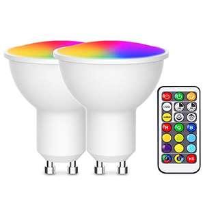Faretto Led GU10 Dimmerabile RGB + Bianco Caldo /Freddo 2 Pezzi