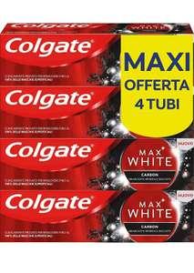 Colgate Dentifricio Sbiancante Max White Carbon, 4 x 75 ml