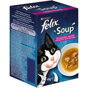 PURINA FELIX Soup Gatto Selezioni Miste (8 confezioni da 6x48g)