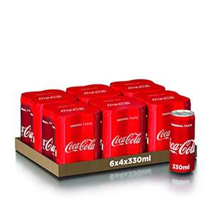 Coca-Cola Original Taste 24 X 330ml (Lattina) - Disponibile anche Senza Caffeina