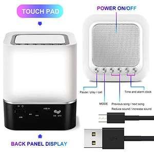 Altoparlante Bluetooth RGB, Sveglia, Luce notturna o lampada da scrivania