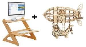 Supporto scrivania in bambù + Puzzle 3D in legno