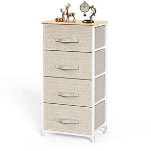 cassettiera camera letto in tessuto a 4 cassetti, cassettiera con ampio spazio interno facile da installare,