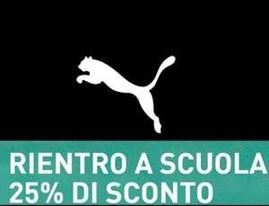 Puma - Codice del -25% Rientro a Scuola