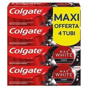 Dentifricio Colgate Sbiancante Max White Carbon 4 x 75 ml