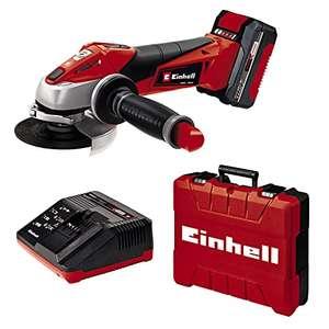 Einhell Smerigliatrice angolare a batteria TE-AG 18/115 Li Kit Power X-Change, Li-Ion, 18 V, 8500 min-1, max. 28 mm