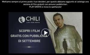 FILM GRATIS DI SETTEMBRE -CON PUBBLICITA'- SU CHILI-