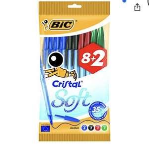 BIC Cristal Original Soft – Borsa di 10 penne, Multicolore