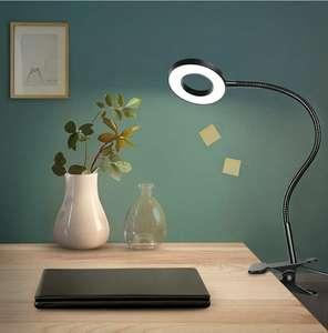Anpro - Lampada da Tavolo 48 LED con Pinza Regolabile 360°