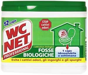 Wc Net Professional Fosse Biologiche, Capsule Idrosolubili per WC 12 Caps, 216 gr