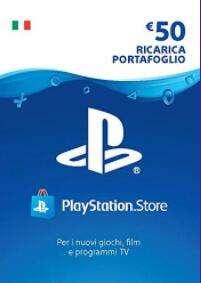 PlayStation Card da 50€ in offerta a 37.59€