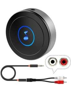 Ricevitore Bluetooth 5.0 per Home Stereo, TV, Tablet, altoparlanti, ecc. con uscita AUX3.5/RCA, bassa latenza