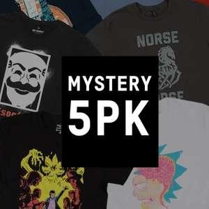 5 T-Shirt Mistery Geek 20.9€