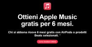 6 Mesi Gratis Apple Music