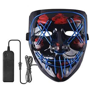 Maschera spaventosa Halloween a LED
