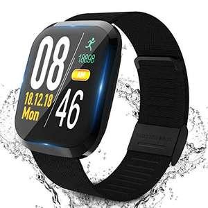 Smartwatch Fitness Tracker, contapassi con cardiofrequenzimetro, monitoraggio del sonno