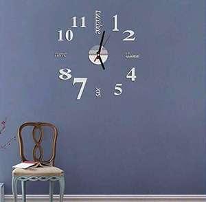 Orologio Decorativo per la casa con Orologio da Parete al Quarzo di Forma Rotonda Muto Casa e Cucina