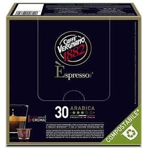 8 confezioni da 30 capsule (totale 240) Caffè Vergnano 1882 Capsule Compatibili Nespresso Compostabili, Arabica