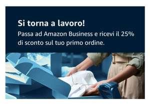Codice sconto del 25% Primo Acquisto Amazon Business
