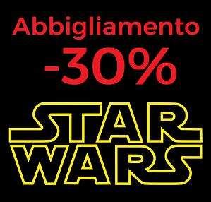 30% di sconto sull'abbigliamento Star Wars
