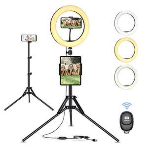"Treppiedi 10"" LED Selfie Ring Light con Telecomando"
