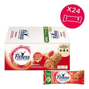 FITNESS FRAGOLA Barretta di Cereali con Frumento Integrale e Fragole 24 Pezzi -altri gusti in descrizione