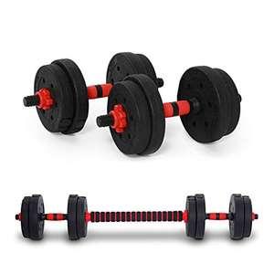 Set di manubri regolabili per uomini e donne, manubri professionali con gomma antiscivolo, per fitness, allenamento muscolare, 10 kg