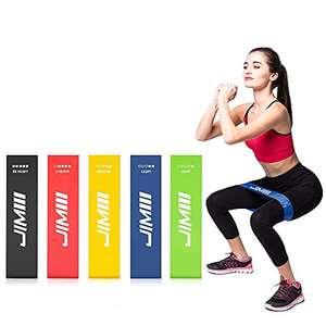 Set 5 Elastici Fitness - Bande Elastiche 5 livelli di resistenza, in Lattice Naturale Indicata per Crossfit, Yoga e Pilates